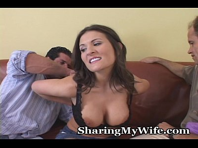 Blowjob Brunette Busty video: Hot Brunette Convinces Hubby That She Needs Some Real Cock