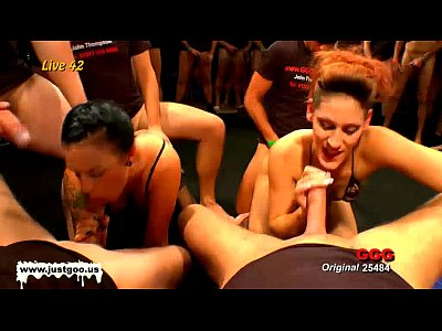 Cuminmouth Cumswapping Cumshot video: Redhead and brunette vixens get banged