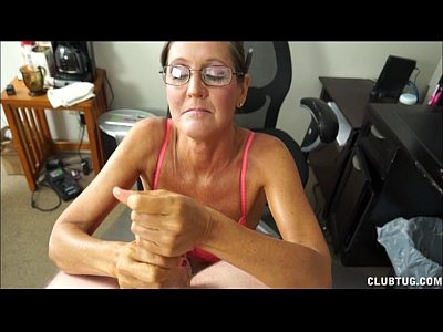 Blowjob Handjob video: A Naughty Mature Lady Sucks And Jerks