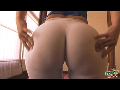 Booty Cameltoe Ghetto video: Best Superb ASS Award Winner! Stretching in White Leggins!