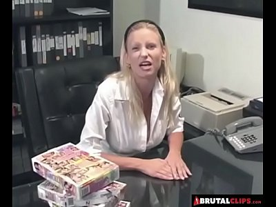 Hardcore Blonde Blowjob video: BrutalClips - Rough Fuck in the Office