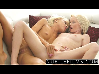 College Forwomen Katerinakay video: First time lesbian sex for young blonde lovers