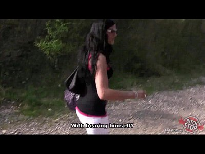 Blowjobs Hardcore Hitchhikers video: Bitch STOP - Skinny dark haired tattooed hooker fucked outdoor