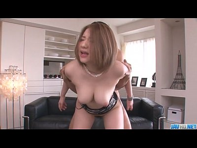 Group Japanese Oriental video: Alice Ozawa gives a japan blowjob and fucks two guys