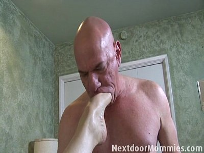Tits Couple Licking video: Bald guy fucks big breasted redhead