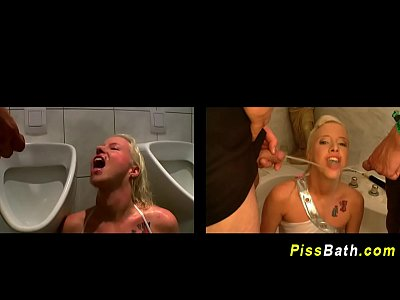 Peeing Goldenshower Goldenshowers video: Fetish chicks drink piss