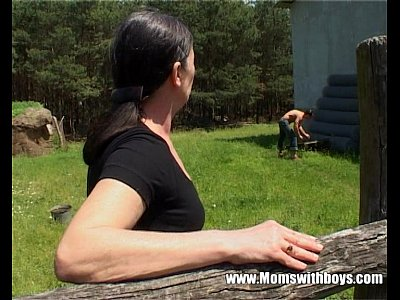 Blowjob Facial Milf video: Tall Mature Lady Gets Banged By A Farm Boy