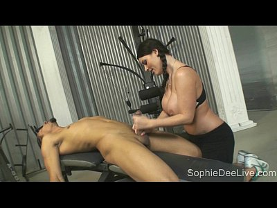 Bigcock Bigtits Bj video: Gym slut Sophie Dee takes a big black cock in her ass at the gym!
