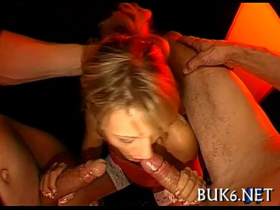 Hardcore Blowjob video: Rowdy and wild blow gangbang