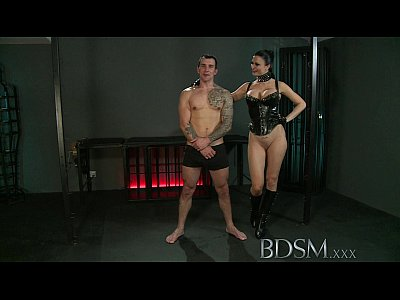 Bdsm Fetish Domination video: BDSM XXX Slave boy gets tied up and receives more than he bargained