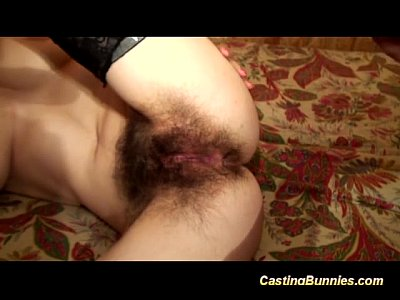 Amateur Hairy French video: hairy anal casting chick