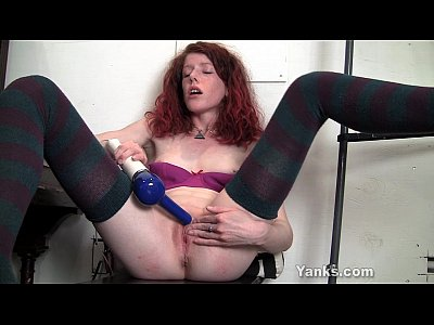 Redhead Staci Toying Her Petite Twat