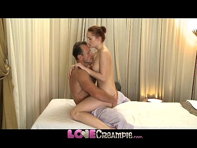 Creampies Creampie Creampies video: Love Creampie Young redhead is stretched wide open and fucked by big cock