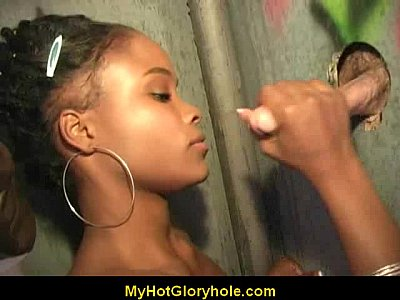 Cute Amateur Black Girl Sucks off Big Whi ...