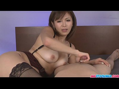 Japanese Stockings Pov video: Mai horny as a girl could ever wild cumshots action