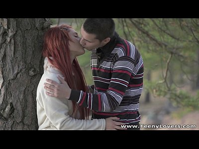 Teeny Lovers - Redhead teeny fucked in a park