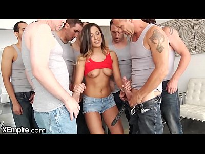 XEmpire Jaye Summers vs. 5 Cocks in Her 1st Blowbang!