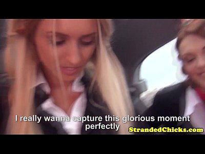 Blowjob Cute European video: Stranded european schoolgirls suck dick pov