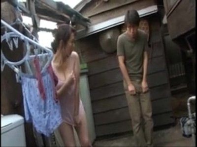 Japanese Voyeur video: Bottomless Friends Mom.