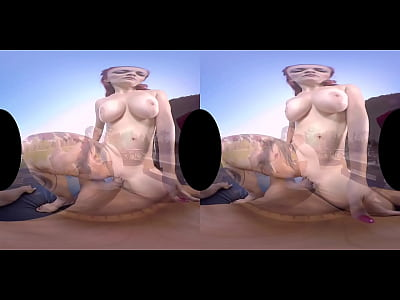 Redhead Mature Virtualreality video: Mary Rider's outdoor tropical VR sex