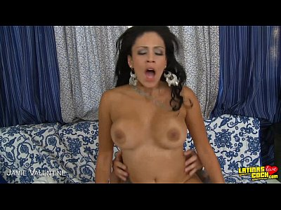 Tits Shaved Pornstar video: Busty latina Jamie Valentine take cock