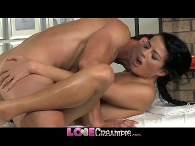 Blowjob Romantic Creampie video: Love Creampie Young beauty gets oil massage and cum in her tight young hole