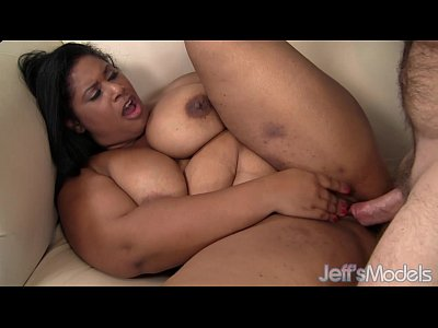 Chubby video: Plus-sized ebony babe Delilah Black fucks an older guy