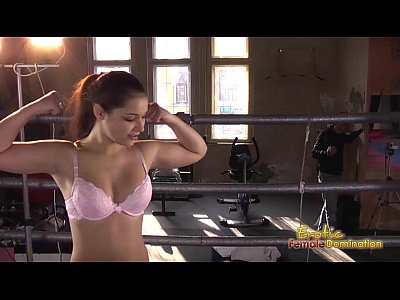 Mixed Wrestling video: Boxer dominates her man in the ring -6