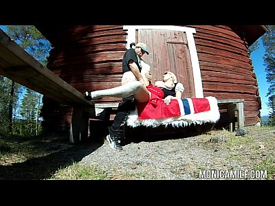Sucking Fucking Outdoors video: Norwegian MonicaMilf fucking outdoors on 17th may