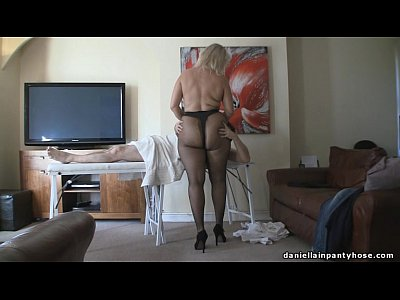 British Massage Milf video: pantyhose massage big ass woman in tights