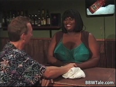 Interracial Bbw movie: Horny busty ebony chick with huge boobs