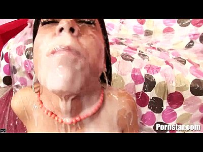 Hardcore Group Oral video: Brunette Hottie Eva Ellington Gets A Nasty Cum Shower