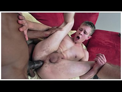 GAYWIRE - Izzy's Big Black Dick Destroys A Tight White Ass Hole