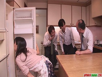 Asian Japanese Group video: Chihiro Kitagawa Handles Many Dicks Without Fucking Them