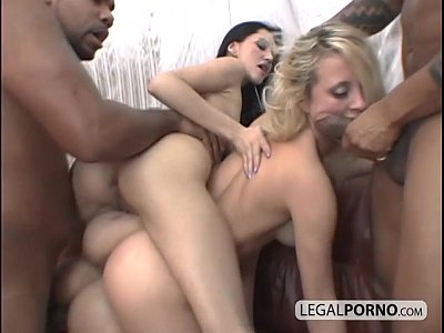 Interracial Rimming video: Famous TV star Anna from Russia gets super nasty with 2 other sluts TS-2-02