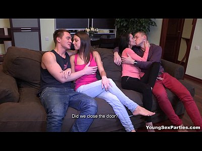 Cumshots Cunnilingus European video: Young Sex Parties - Perfect double date with swinger sex