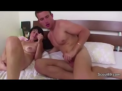 Hardcore Milf Mature video: 48yr old Step-Mom Caught German Step-Son and Helps with Fuck