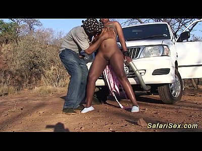Black Ebony Outdoor video: extreme african safari sex tour