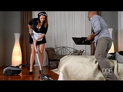 Blowjob Doggystyle Orgasm video: French maid gets caught and titty fucked