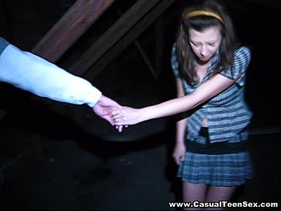 Casual Teen Sex - Nice view from the attic