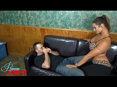 Femdom Footfetish Footworship video: Big Sister Sweaty Blackmail MILES STRIKER