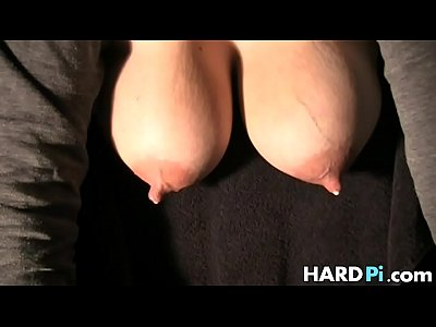 Tits Boobs Fetish vid: Babe plays with her lactating big tits