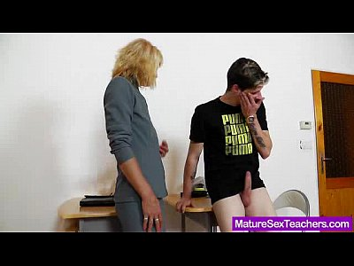 Handjob Milf Mature video: Mommy teacher playing plus a cock