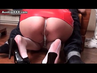 Austrian Blowjob European video: Sexy nurse Sarah Dark in white stockings
