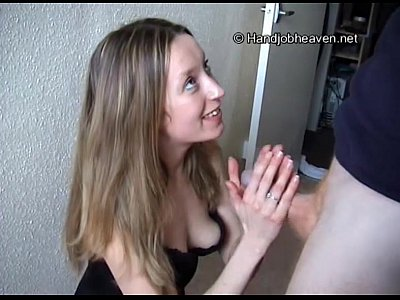 Teen Tania gives a blowjob and handjob