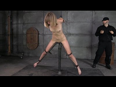 Dildo Vibrator Hitachi video: Slender Blonde In Device Bondage
