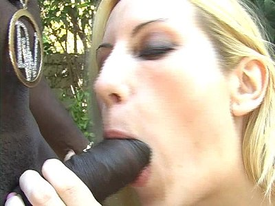 Interracial BJ for black stud