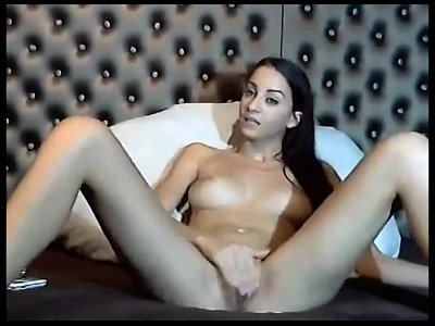 Analmasturbation Brunette Livesex video: Webcam Solo Pussy Rubbing And Anal Masturbation