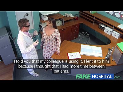 Amateur Voyeur video: FakeHospital Doctors meat injection eases curvy patients back pain