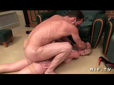 French blonde gets hard anal fucked